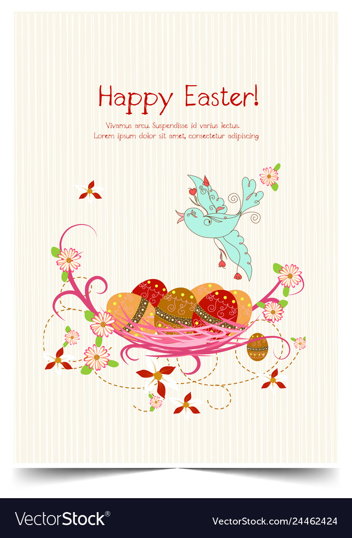 Happy holiday easter day card