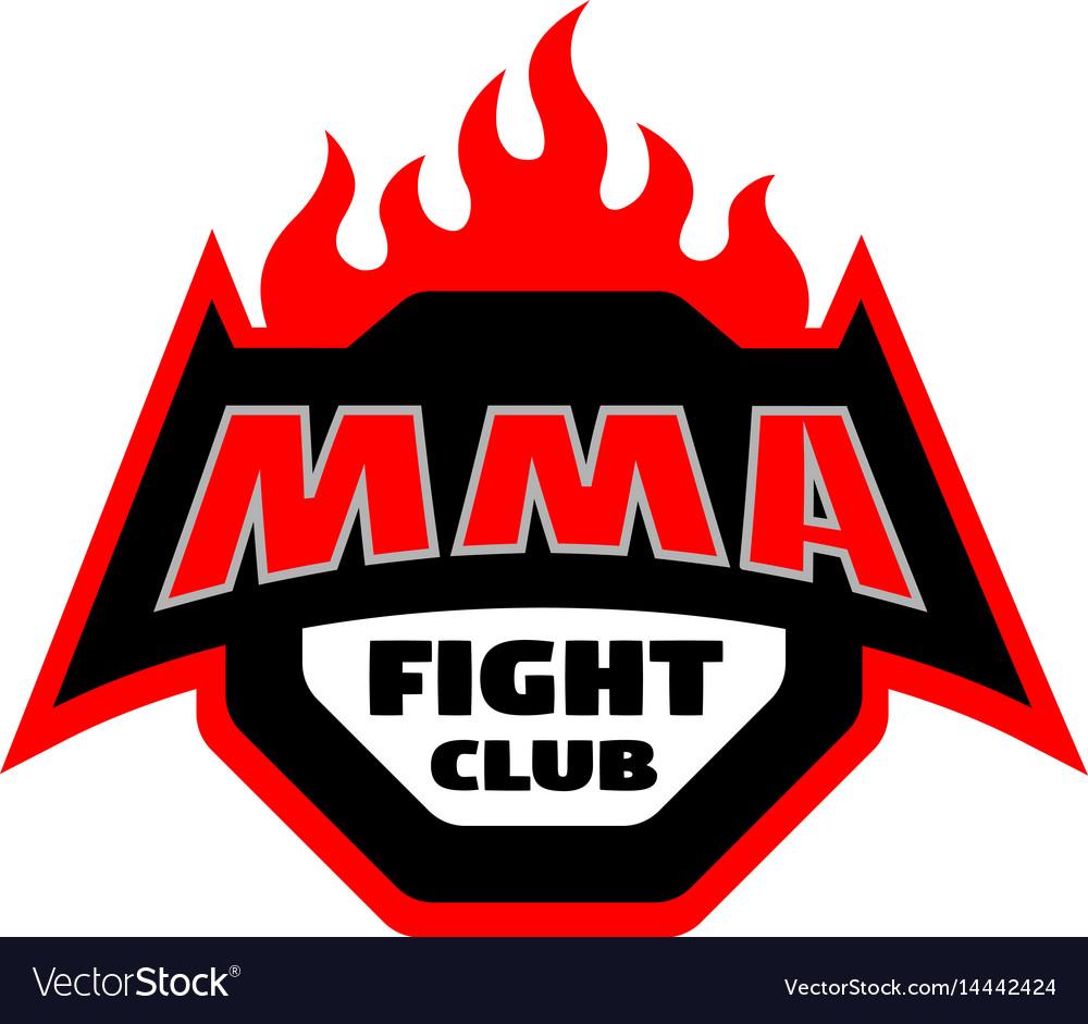 Mma Fight Club Logo Royalty Free Vector Image Vectorstock