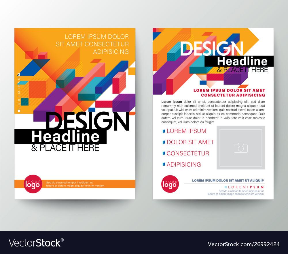 Modern yellow brochure cover flyer poster design