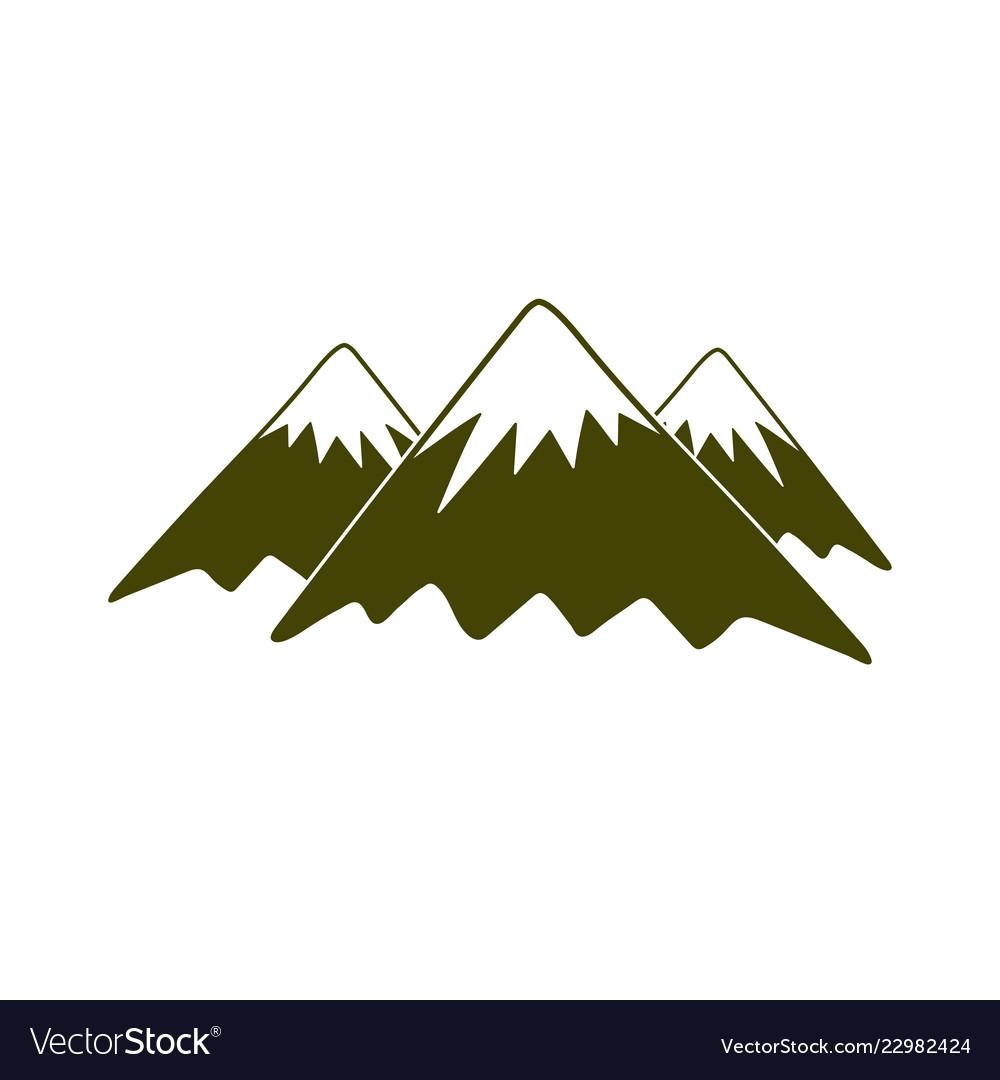Mountain icon concept