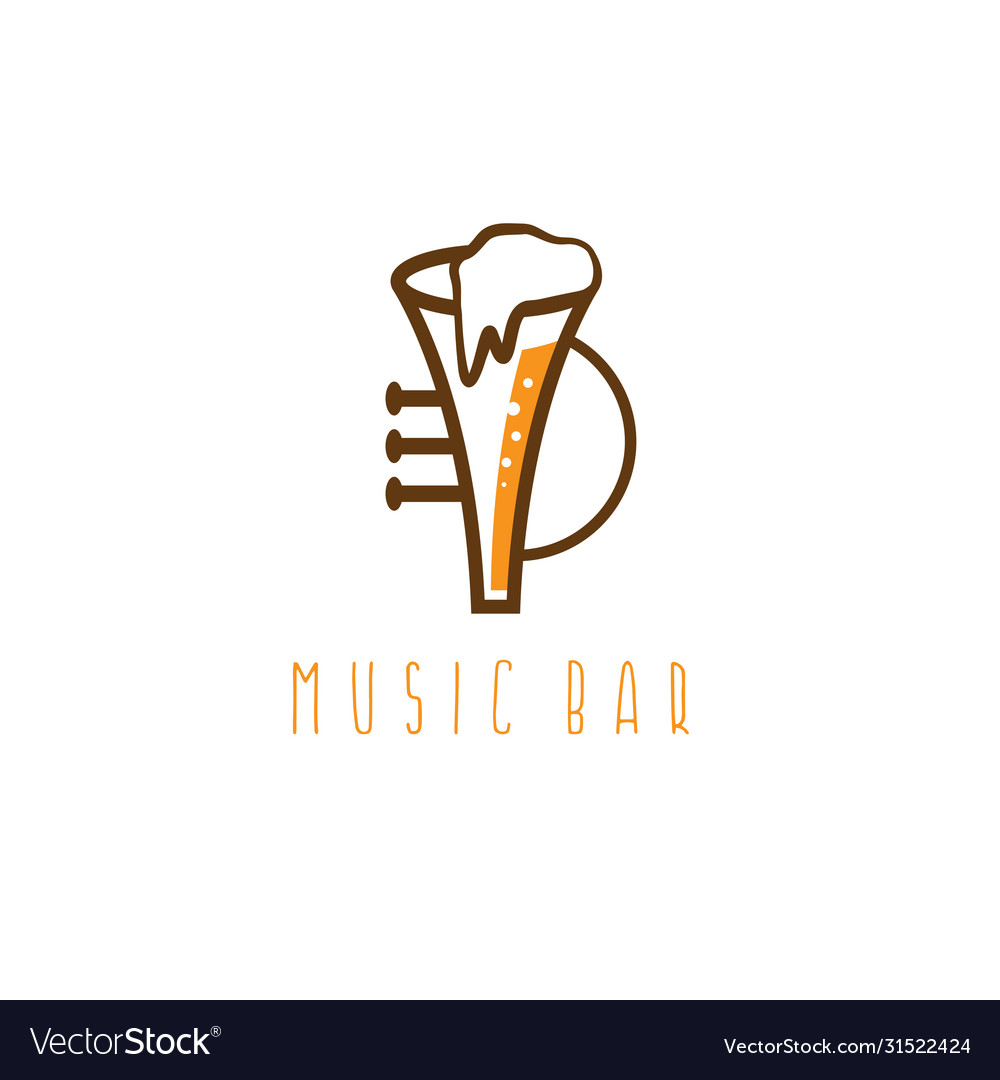 Music bar concept with trumpet and beer