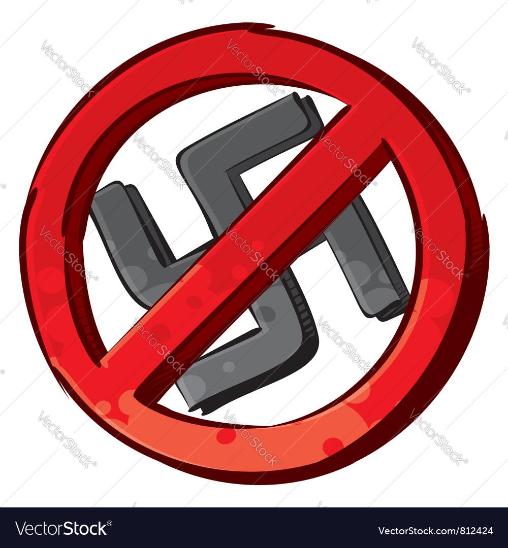 No Nazi Symbol Royalty Free Vector Image Vectorstock