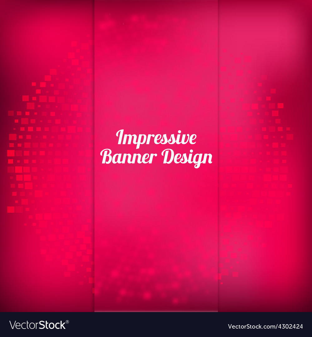 Pink banner design with halftone effect