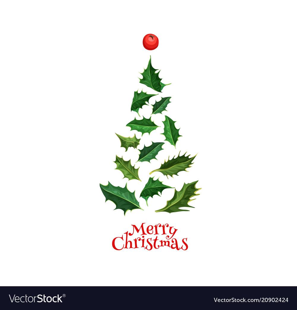 Realistic Christmas Tree From Holly Xmas