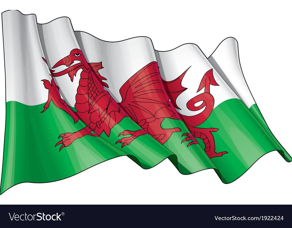 Wales flag grunge