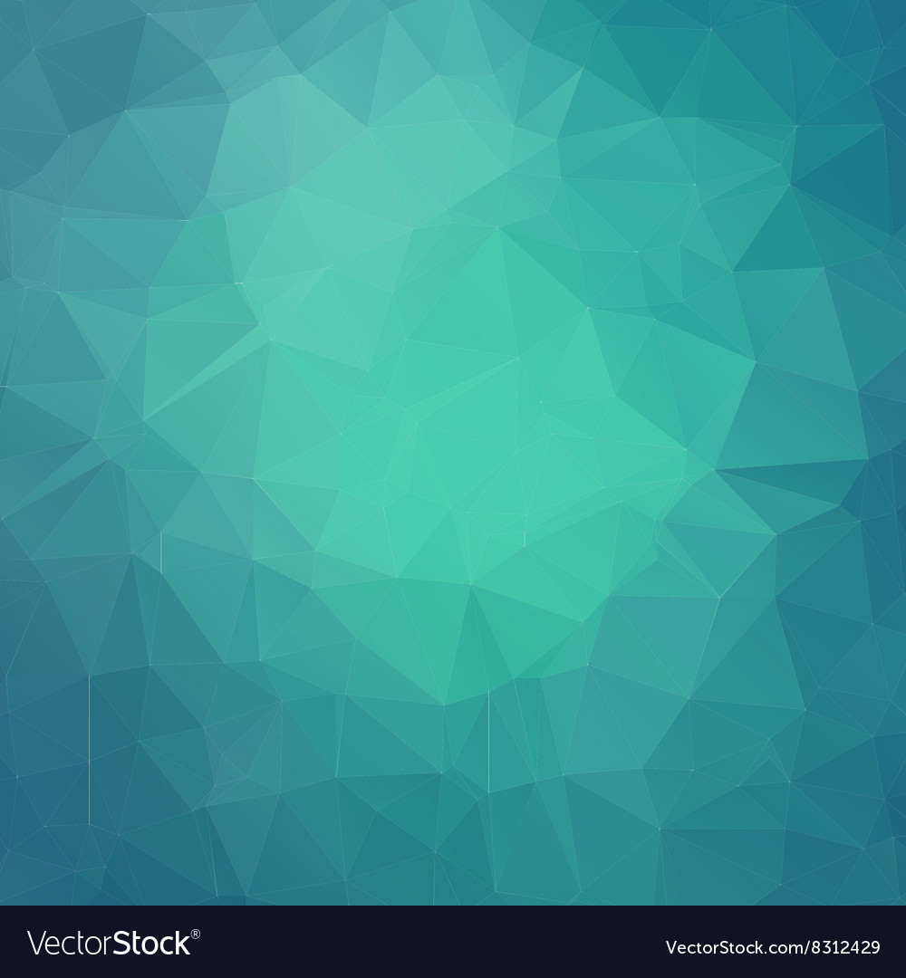 Abstract teal geometric triangle background