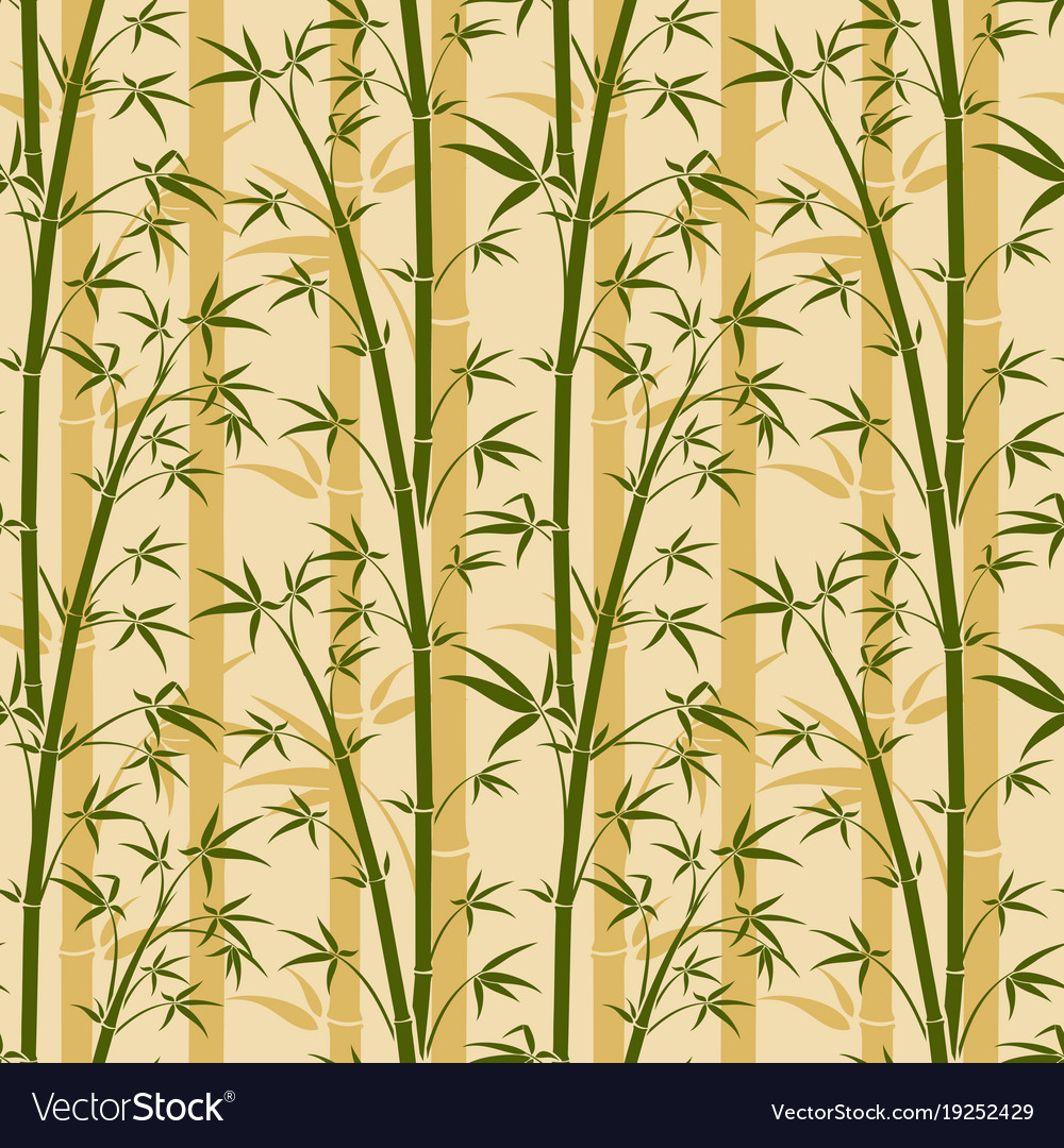Bamboo Tree Seamless Background Royalty Free Vector Image
