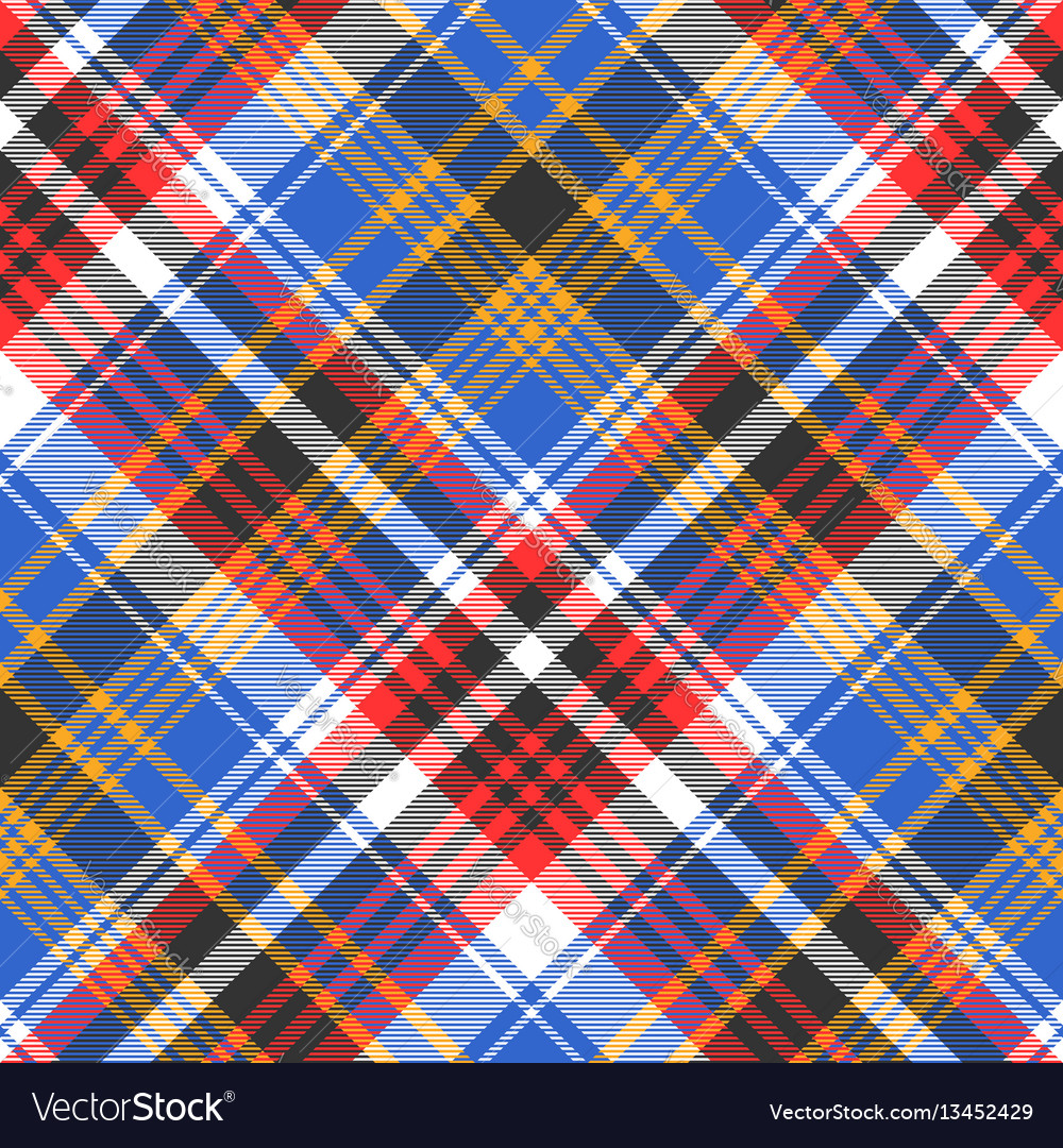 Blue check plaid tartan seamless pattern