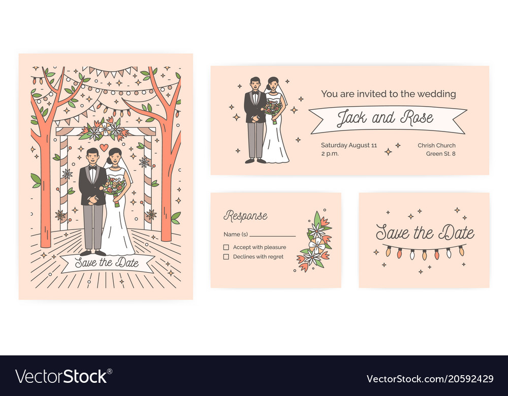 Collection Of Save The Date Card Wedding Ceremony