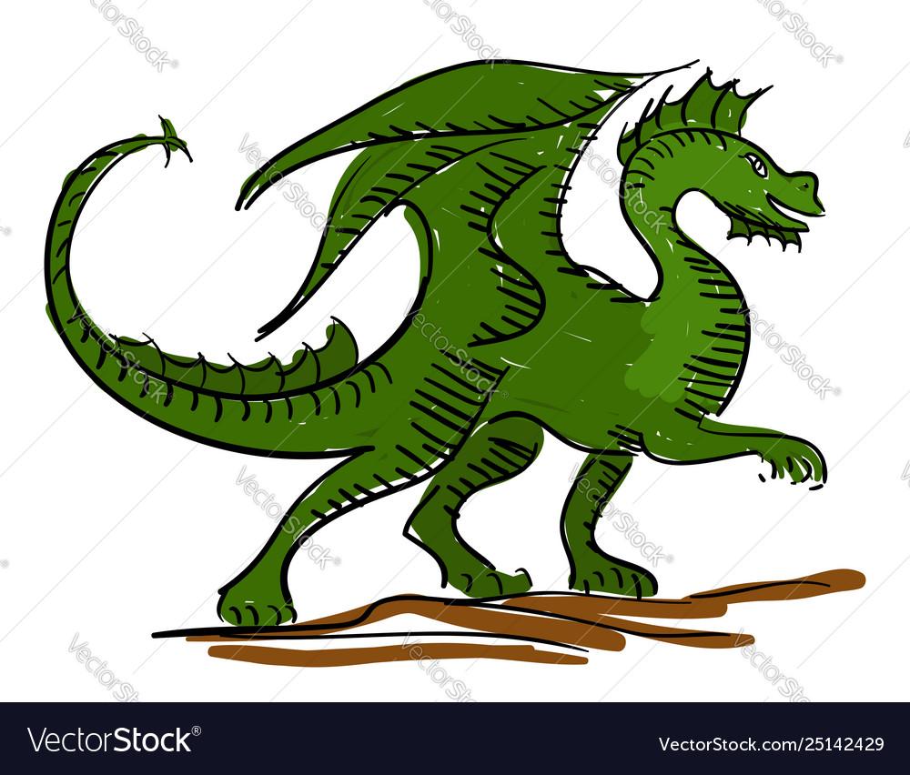 Dragon Kids Sketch Royalty Free Vector Image Vectorstock