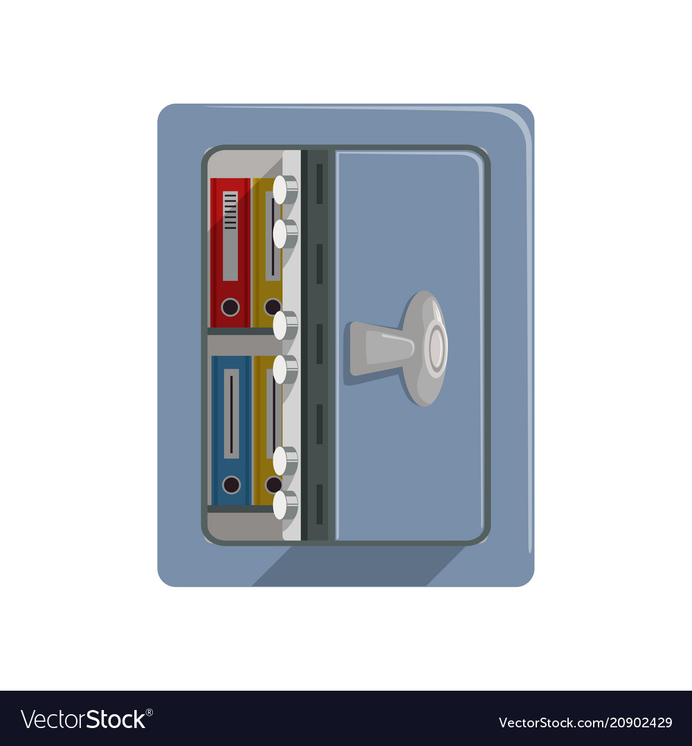 Diagram Of A Safety Box Trusted Wiring Fuse Opened Metal Armored Safe Business Vector Image For 1978 Chevrolet Truck