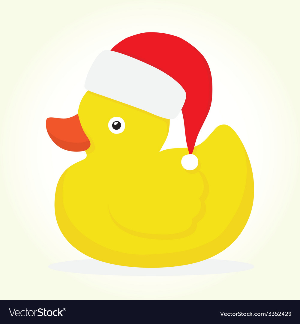 rubber duck merry christmas vector image - Christmas Duck