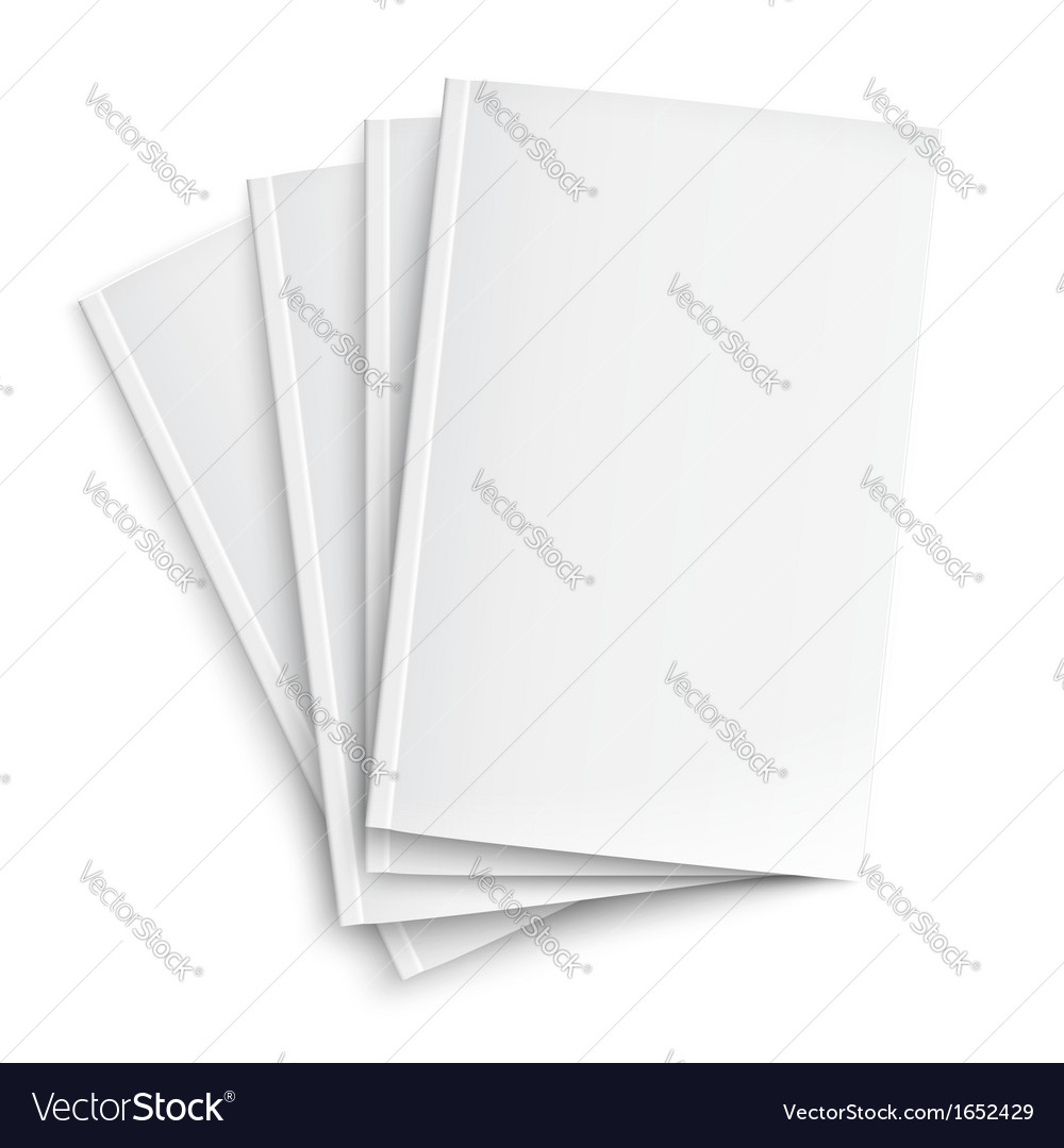 Stack of blank magazines template vector image