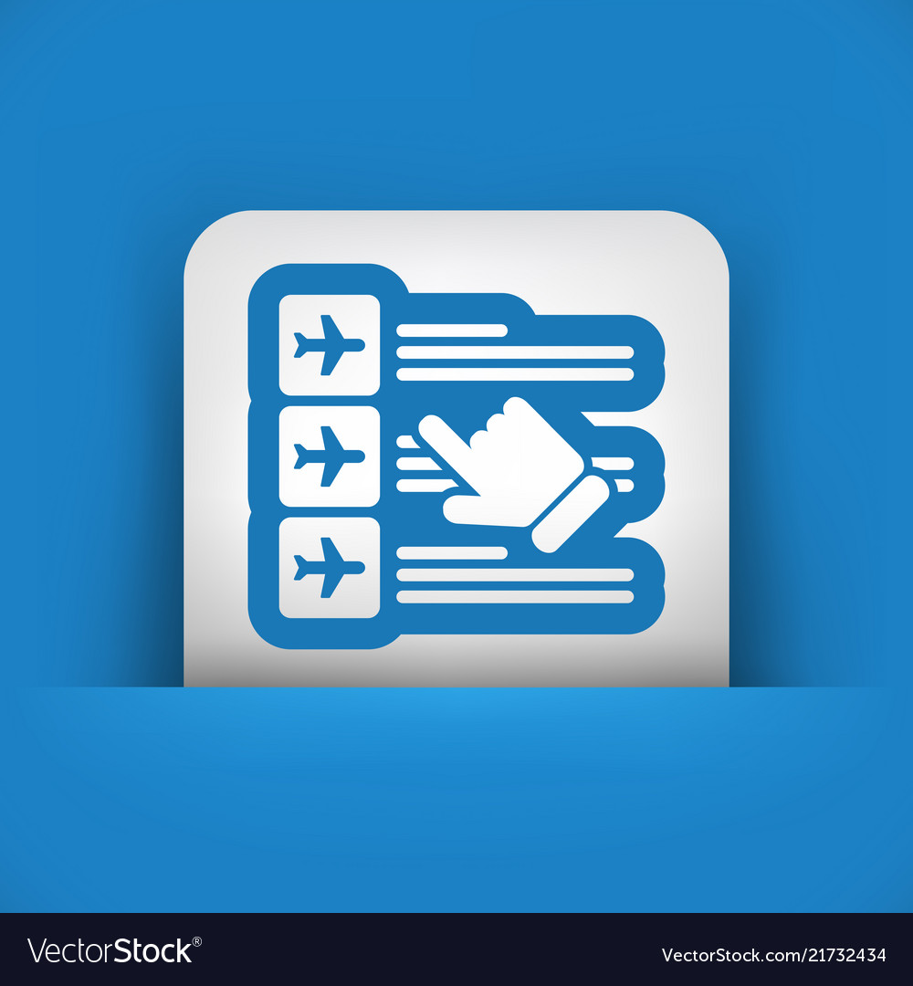 Airline booking icon