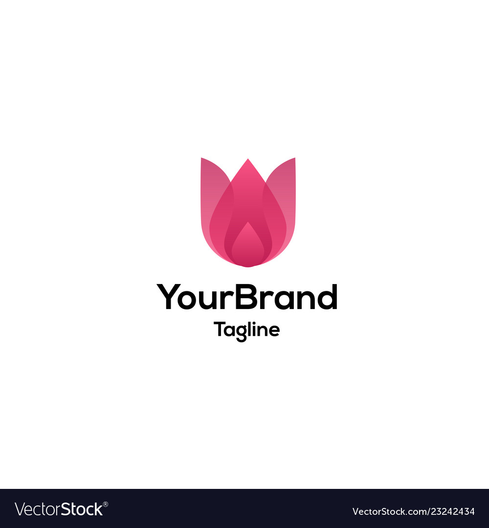 Beautiful and feminine flower logo template