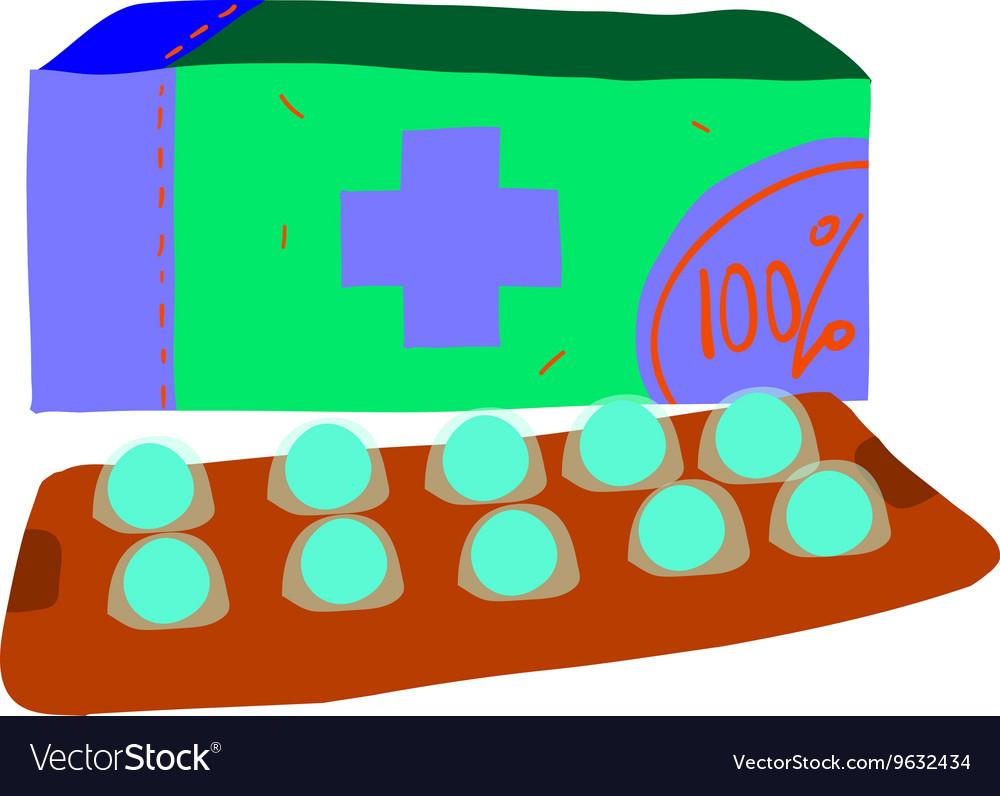 Cartoon pills icon
