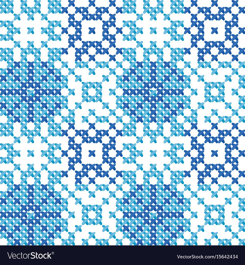 Cross stitch ornament vector image