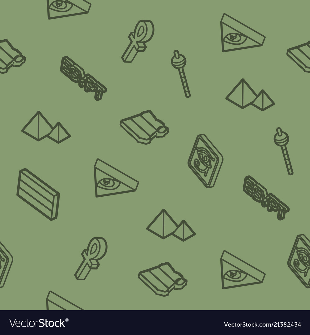 Egypt outline isometric pattern