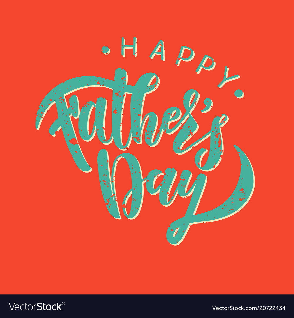 Happy Fathers Day Greeting Card Template Vector Image