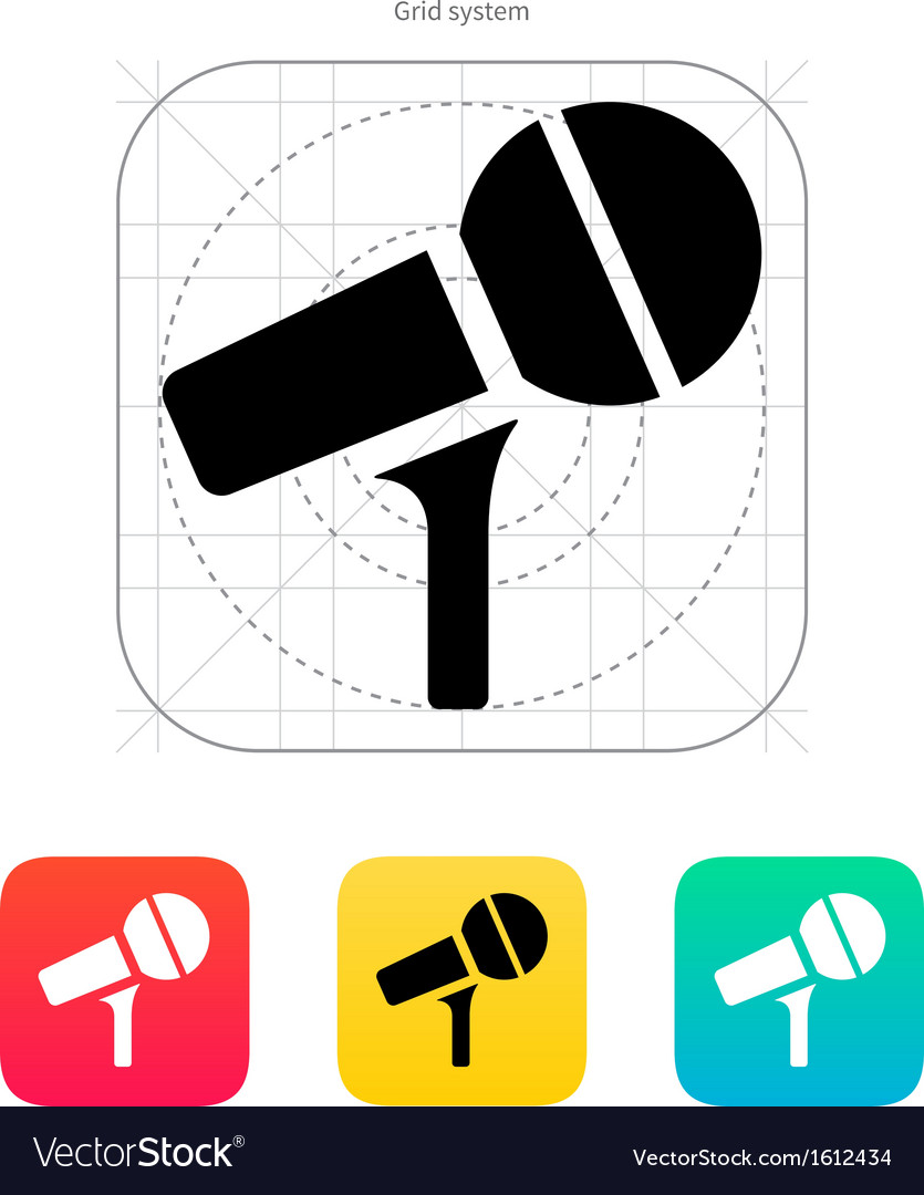 Microphone on stand icon