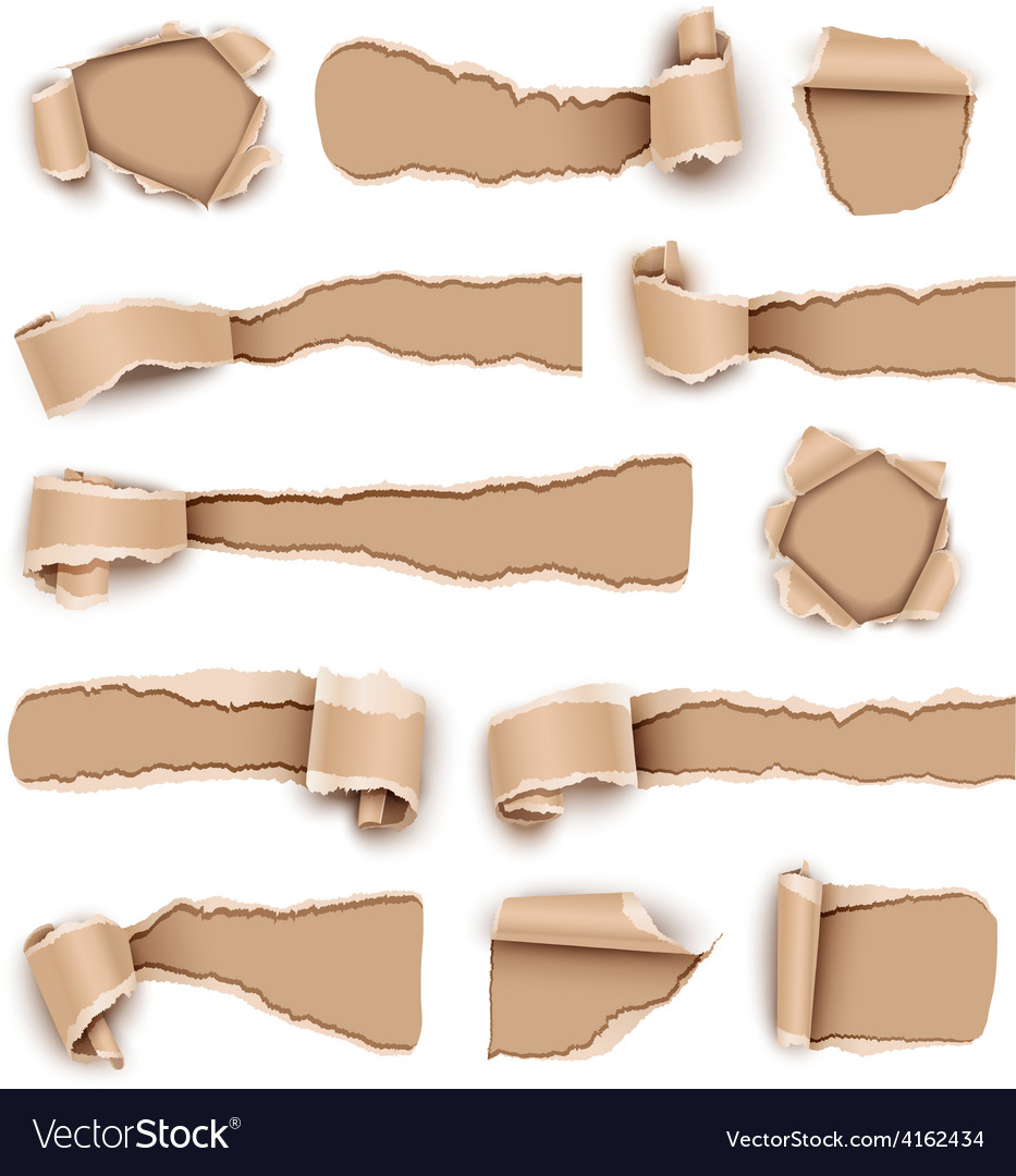 Torn paper vector image