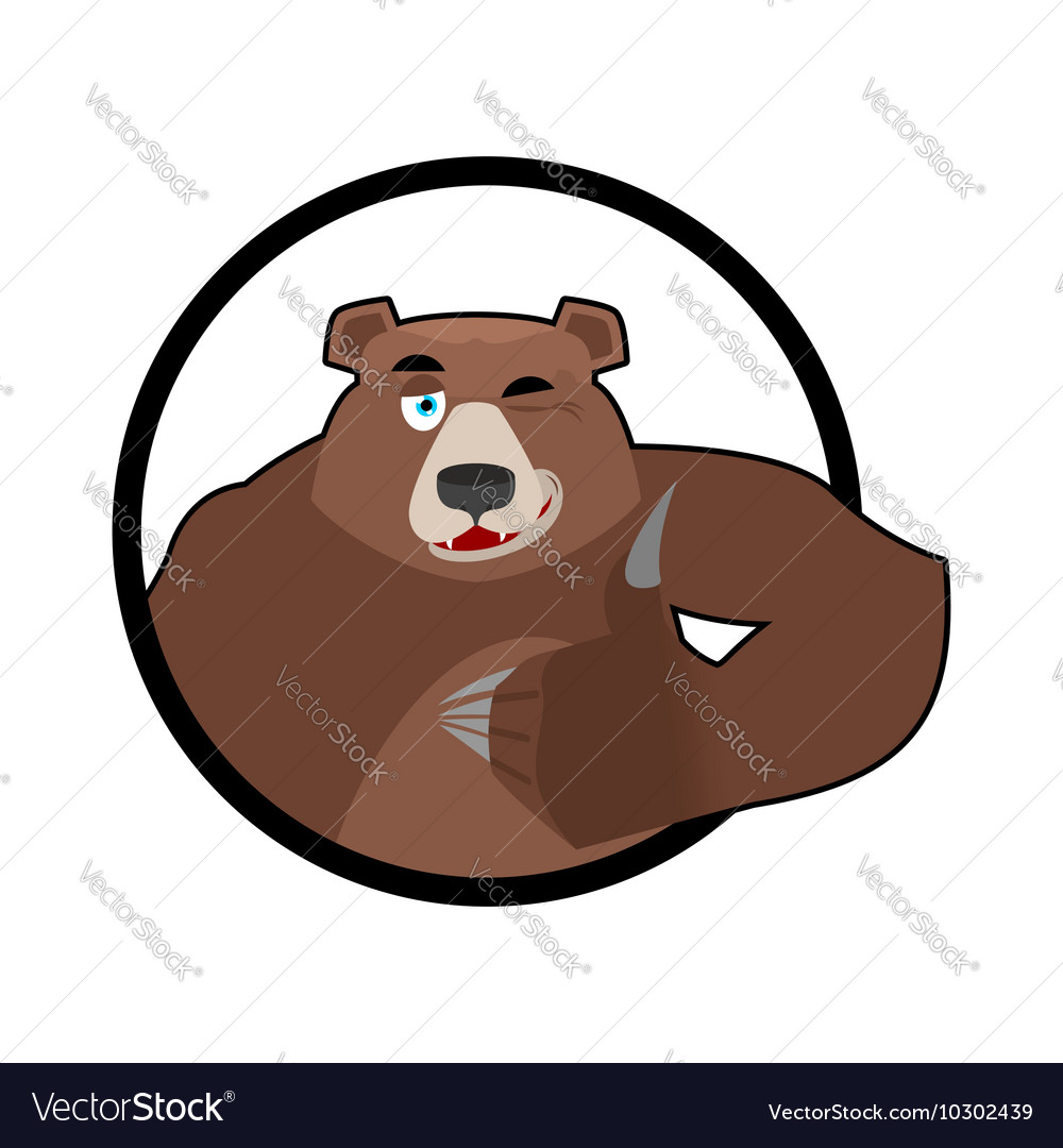 Bear thumbs up and winks all well Grizzlies Signs