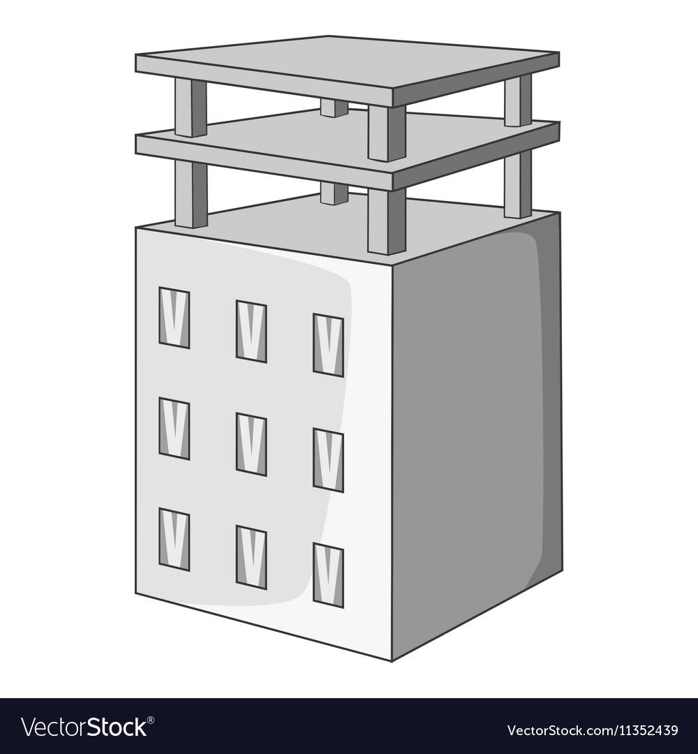Building construction icon gray monochrome style