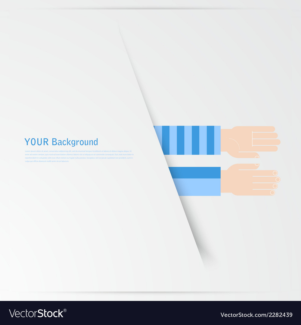 Business hands gestures design elements isolated