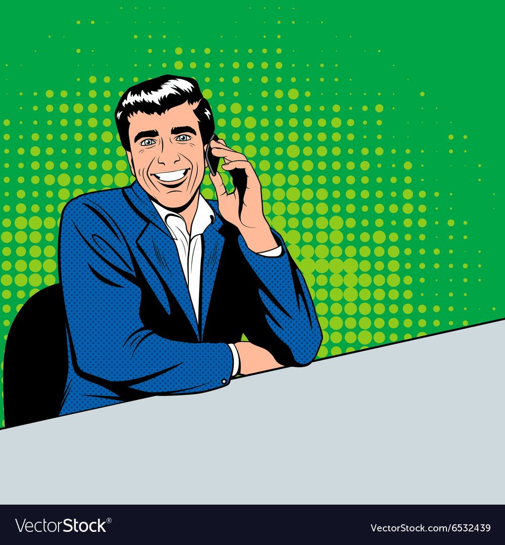 Businessman speaking phone