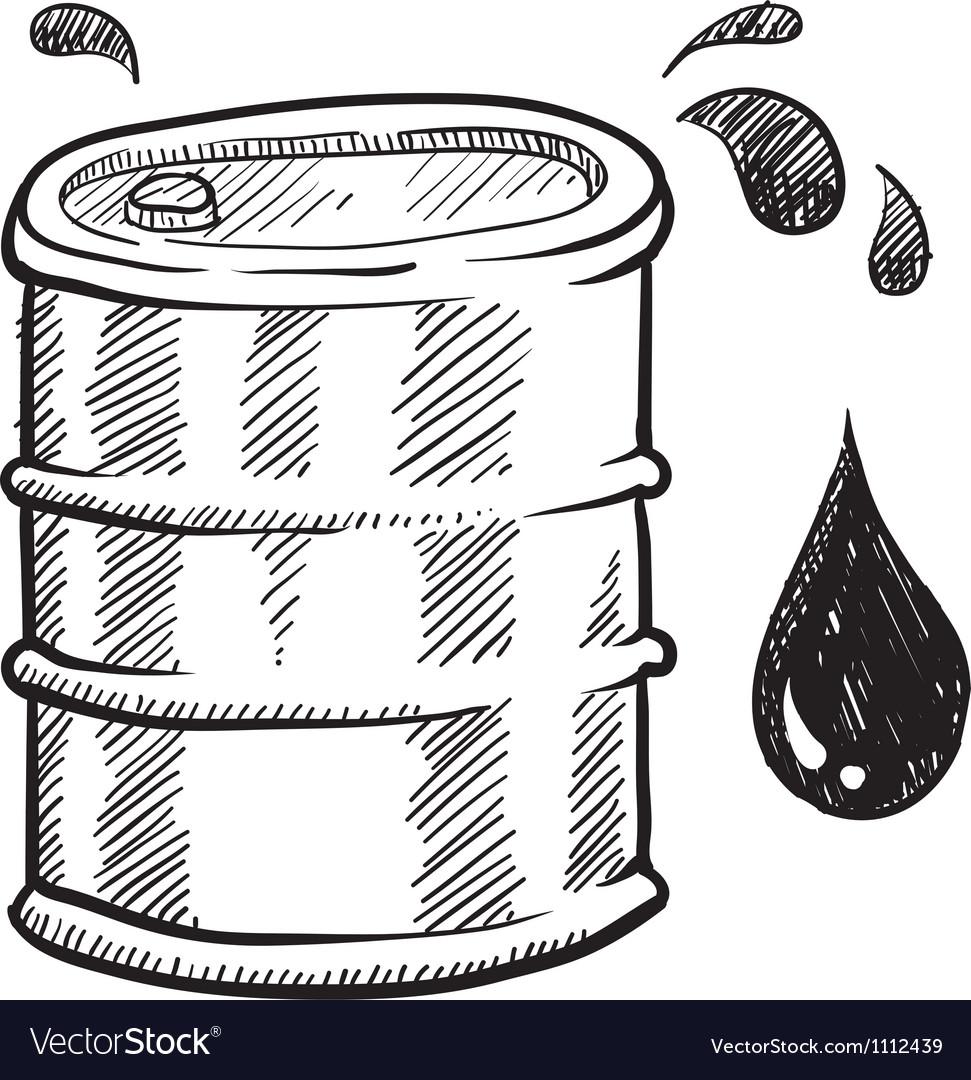 Doodle oil barrel