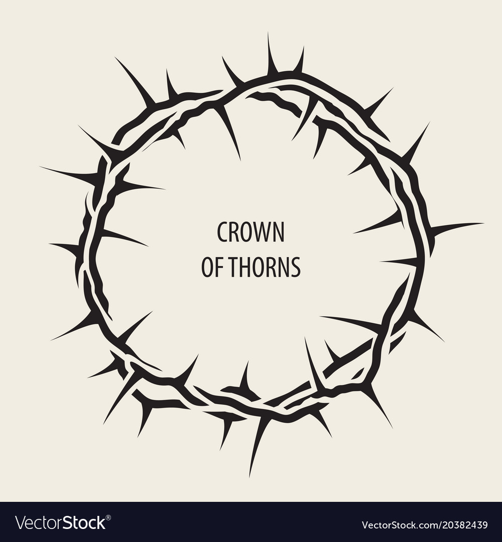 Easter banner with black crown of thorns vector image