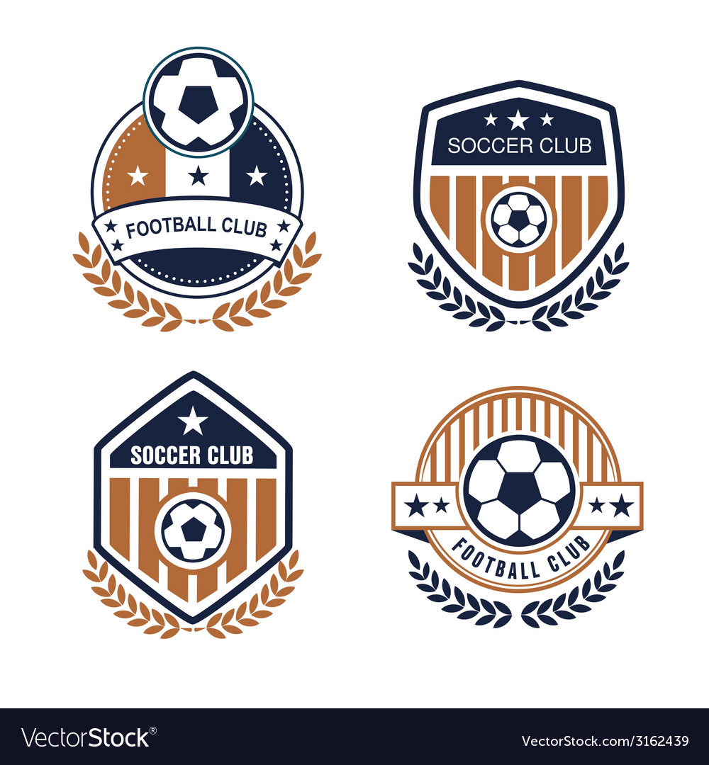 Football Logo Royalty Free Vector Image Vectorstock