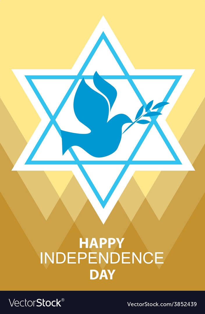 Independence day of Israel david stars and peace