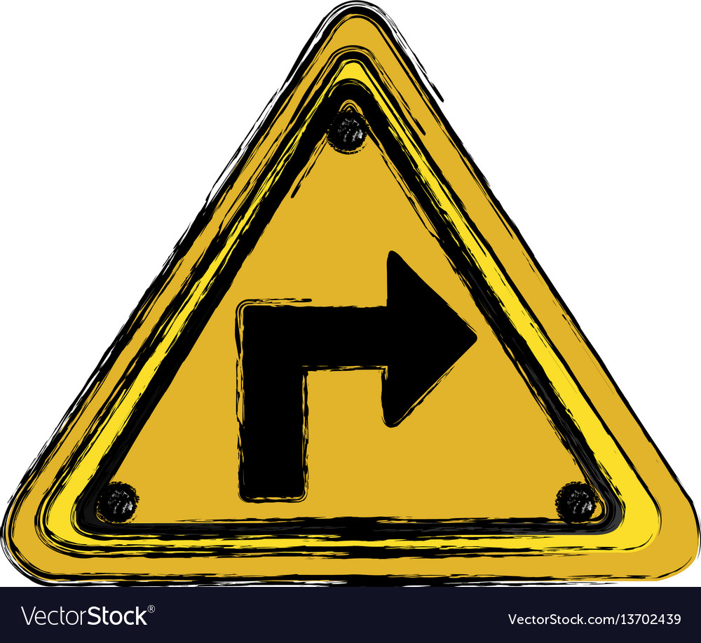 Metal emblem notices warning vector image