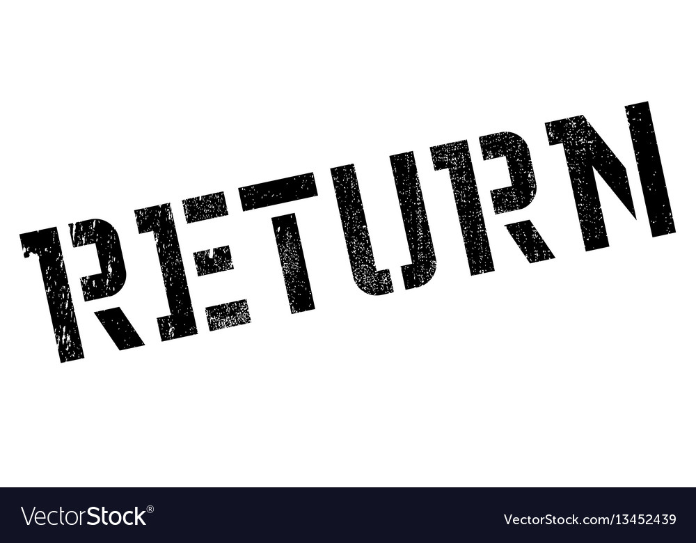 Return rubber stamp vector image