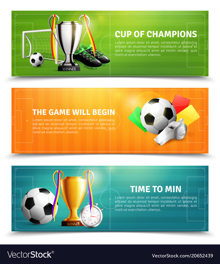Soccer horizontal banners