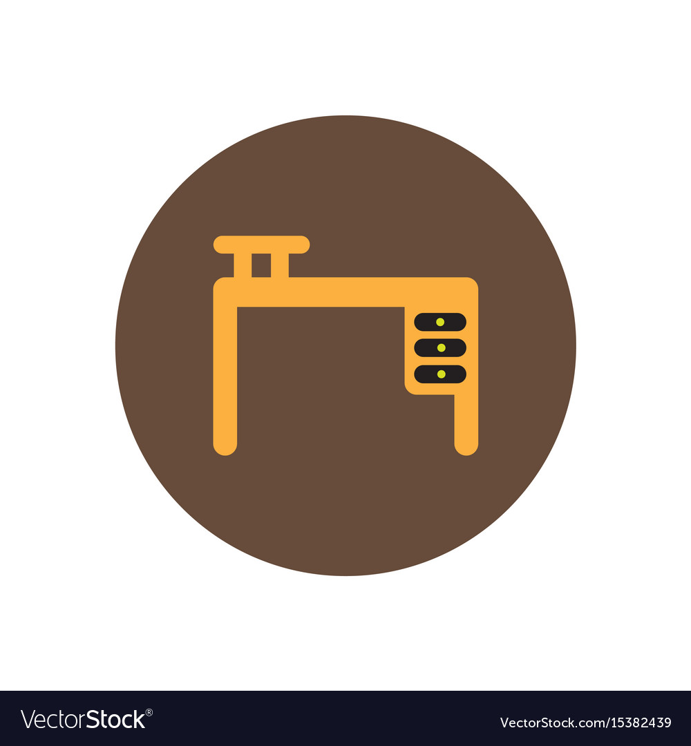 Stylish Icon In Circle Fashion Office Desk Vector Image On Vectorstock