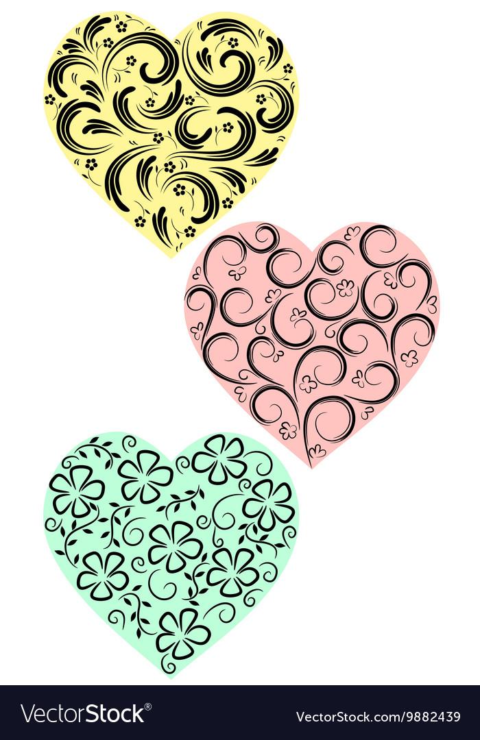 Three hearts from curls
