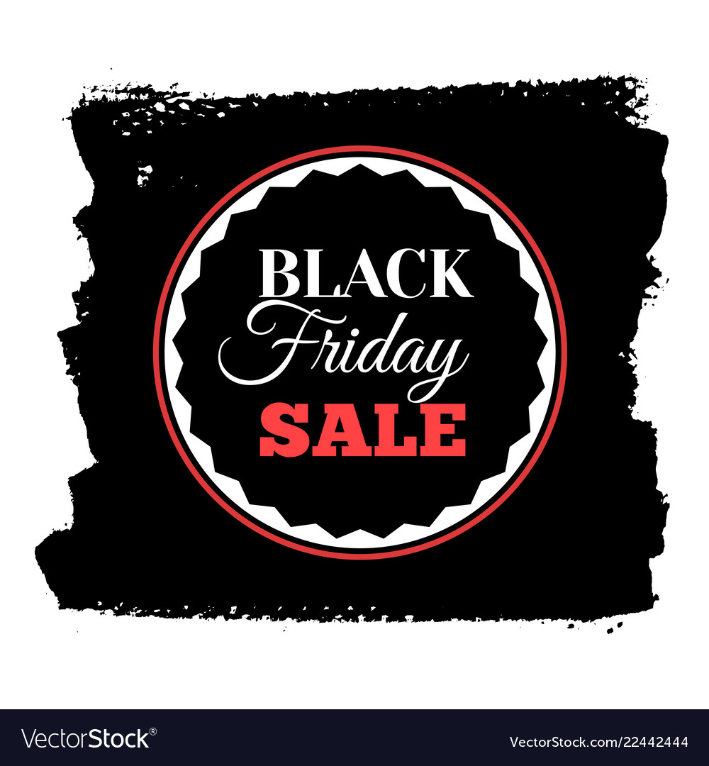 Black friday sale banner insignia or logotype of
