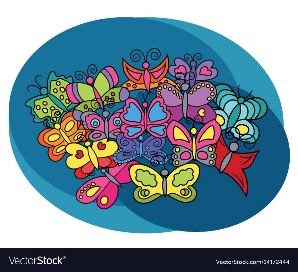 Butterflies design set
