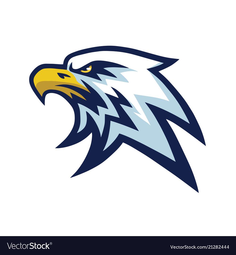 eagle head mascot sports team logo template vector image