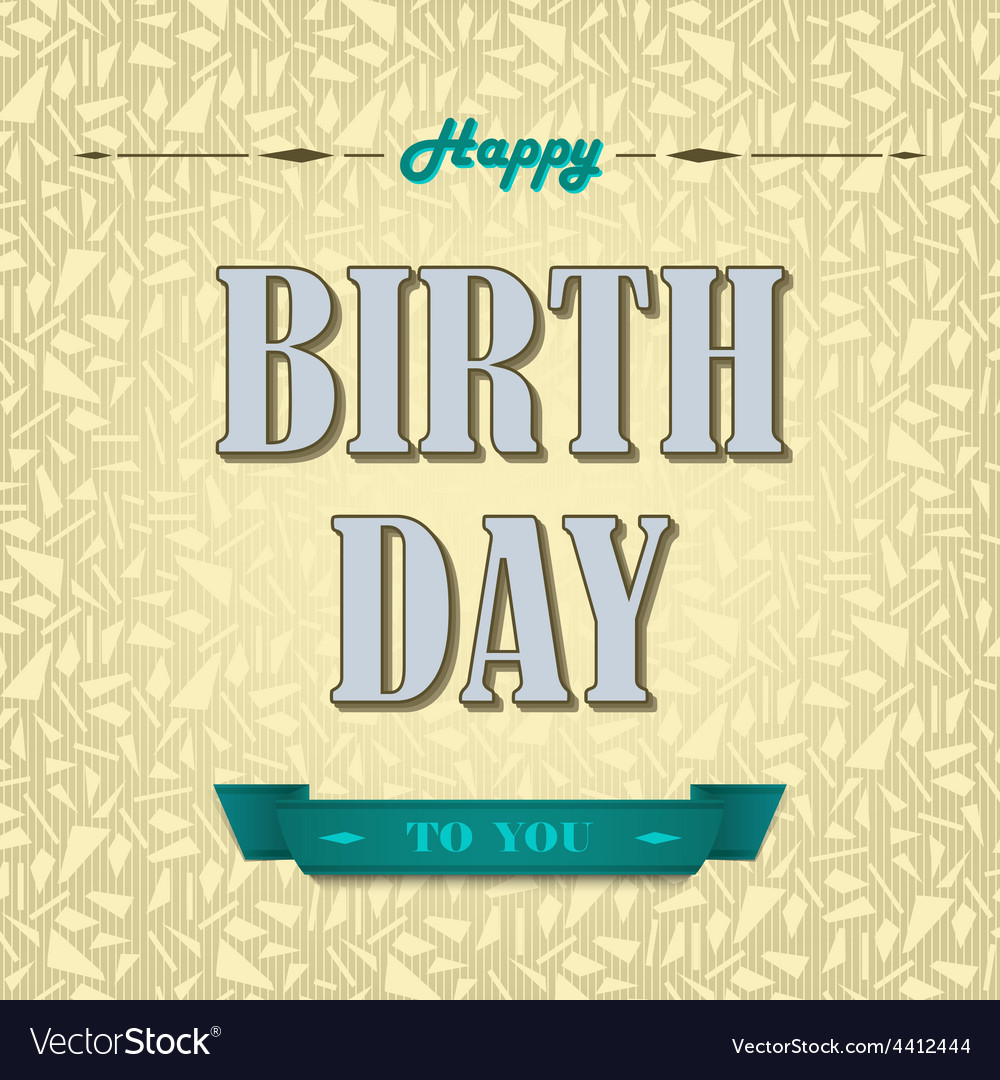 Happy birthday poster background vector image