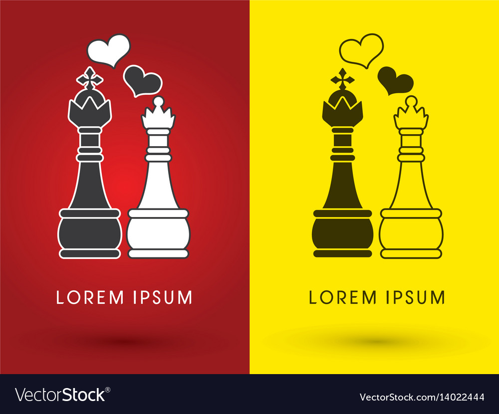 King and queen love chess