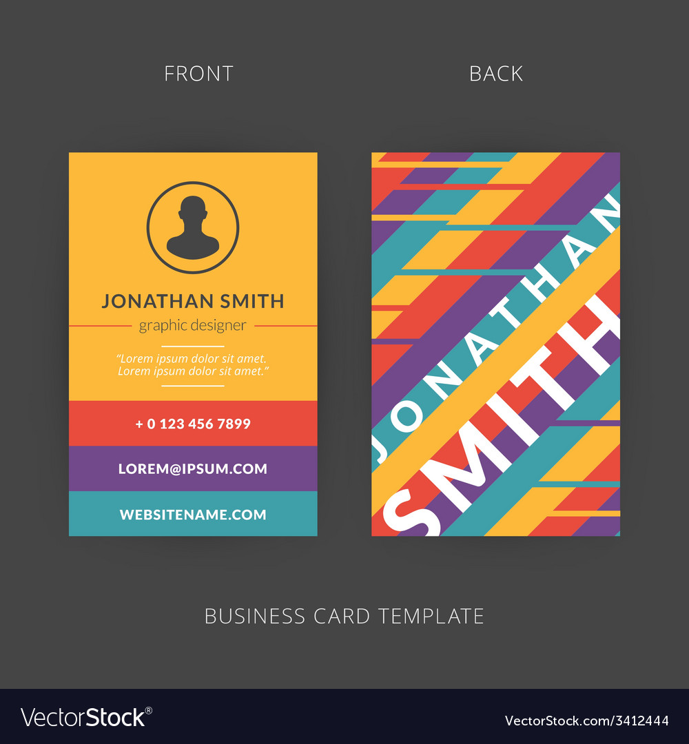 Modern creative business card template flat design modern creative business card template flat design vector image cheaphphosting Choice Image