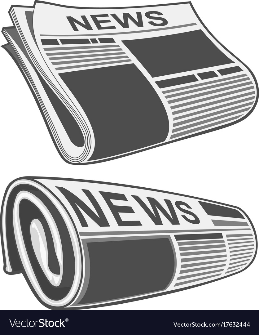 rolled newspaper royalty free vector image - vectorstock