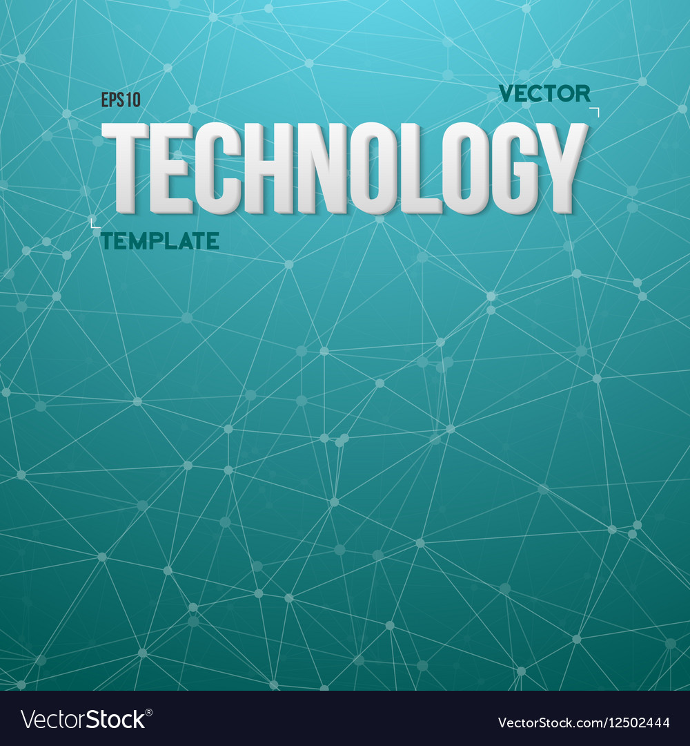 Wireframe Technology Background