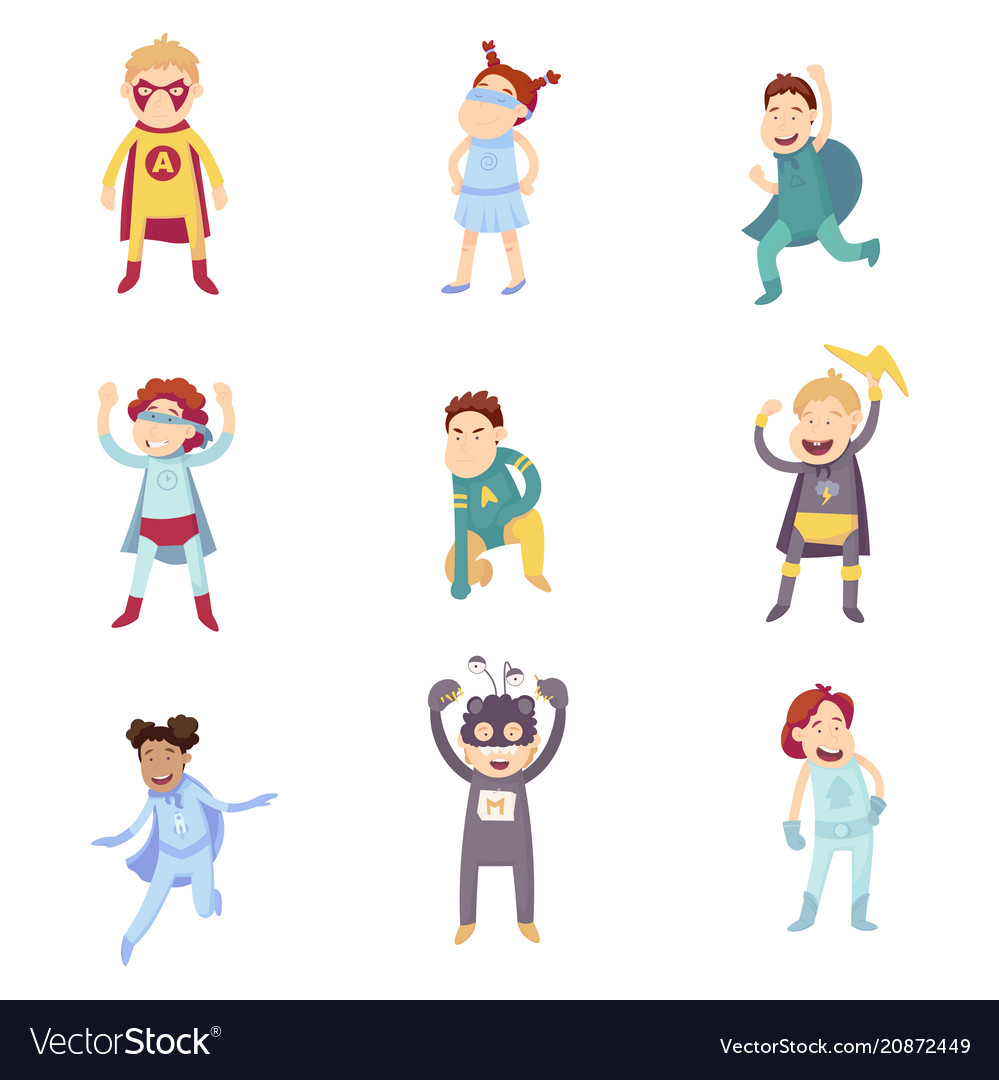Children imagine super heroes
