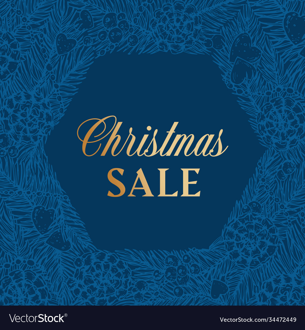 Christmas sale discount hand drawn sketch pine or