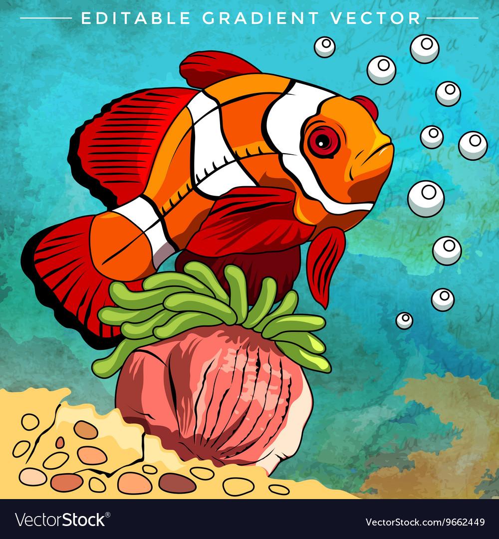 Colorful Aquarium Fish Royalty Free Vector Image