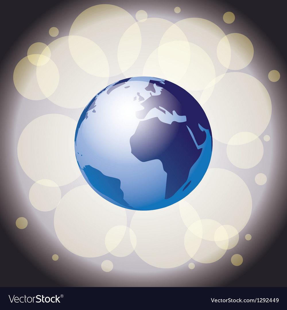 Earth on shiny background vector image